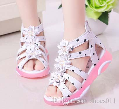 TOP-Qualität Frau Sandalen aus echtem Leder Beste Qualität spitze flache Hausschuhe Mode Sandalen mit Kasten shoes011 018