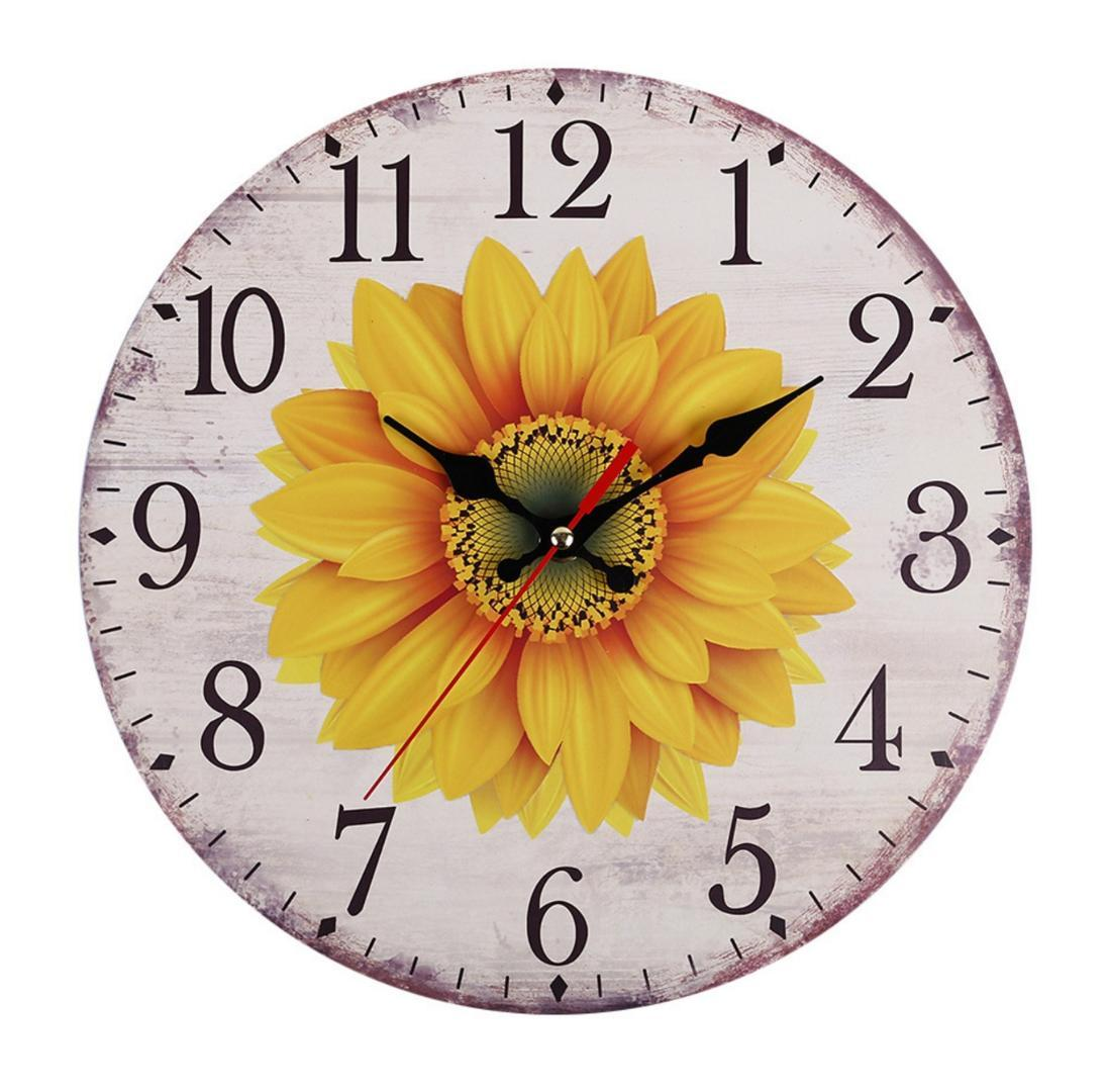 Wall Clock Kitchen School Office Home Shabby Floral Chic Decor Quartz 30cm  Home Deco Cheap Wall Clocks Cheap Wall Clocks For Sale From Raymonu, ...