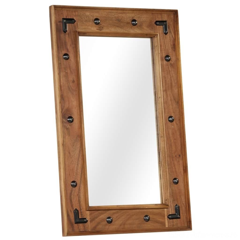 Acacia legno massiccio muro Adesivi casa Dcor specchio 50x80 cm in legno massello di acacia muro Adesivi casa Dcor specchio 50x80 cm