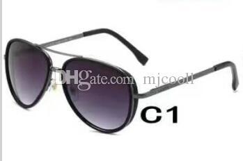 8367 브랜드 악어 금속 프레임 미러 조수 안경 구동 새로운 구동 선글라스 드라이버 선글라스