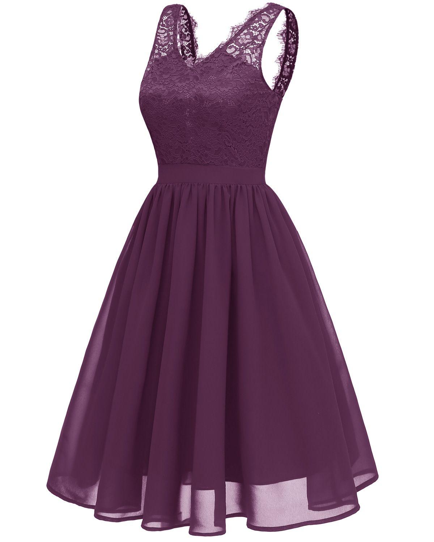 Vestido de fiesta sin espalda Vestido de fiesta de verano Nueva Vintage de 1950 sin mangas con cuello en V de encaje vestido de fiesta en contraste para las mujeres visten sexy