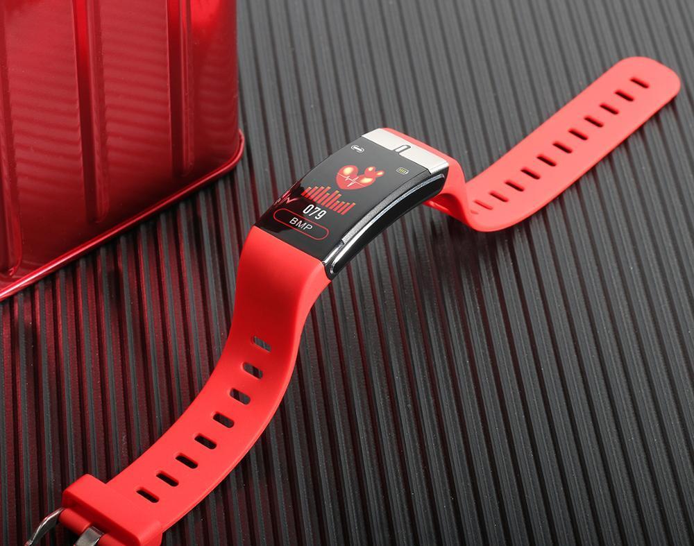 2020 Температура Новый E66 тела браслет здоровья монитор сердечного ритма артериального давления смарт-диапазона Фитнес Tracker Smartband Wristband SmartWatch