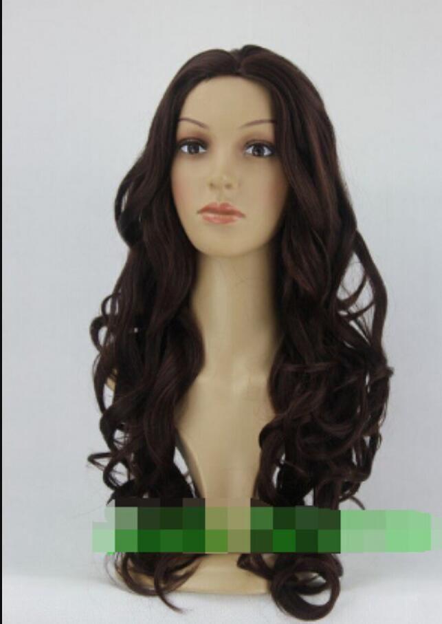 Parrucca WIG LL 002302 nuova parrucca resistente al calore parrucca marrone scuro