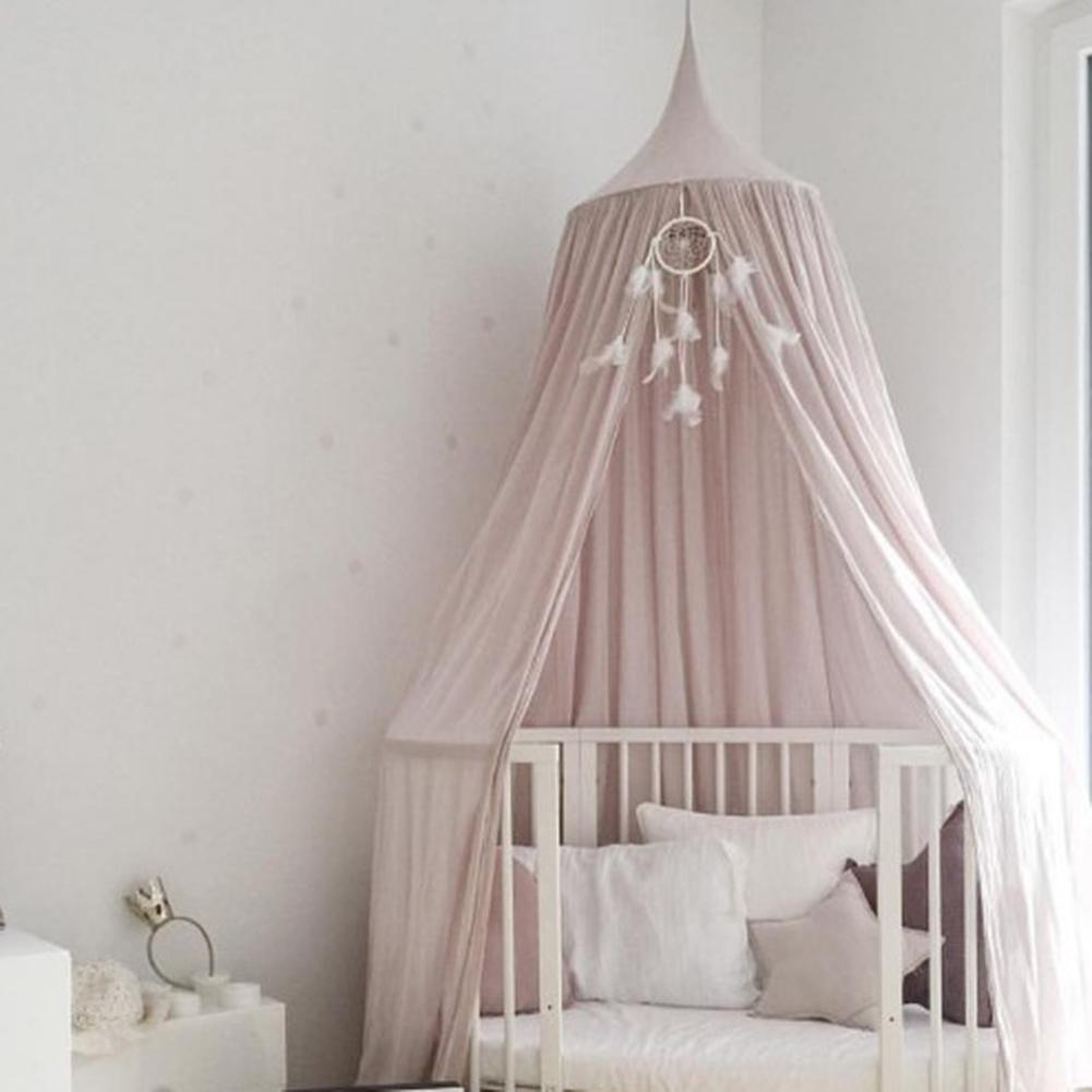 Kids Home CottonHanging Bedroom Bed Curtain Mosquito Net Canopy Baby Dome Tent hot