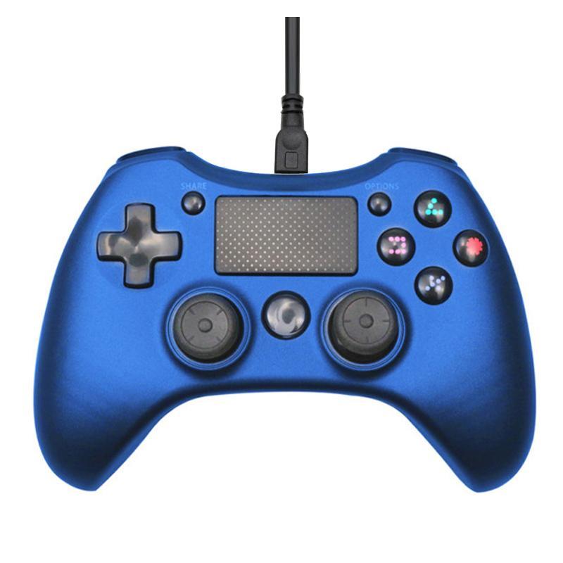 USB gamepad com fio para Playstation 4 joystick Joystick Gamepad Duplo Choque gamepad para PC PS4 cabo 2.2M controlador para o console PS3