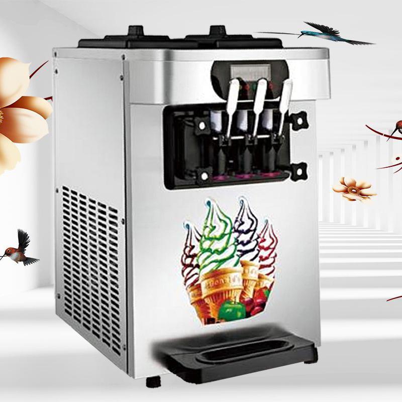 Barato caliente de escritorio Venta negocio helado suave máquina / máquina de Verano esencial helado suave / ahorro de energía máquina de helados