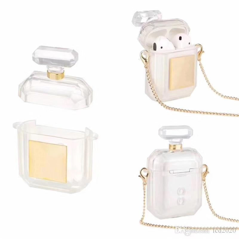 Caso della bottiglia di profumo di qualità con l'anti-perso Fibbia per Apple Airpods 1/2 Airpods Pro due colori opzionale con l'imballaggio al dettaglio