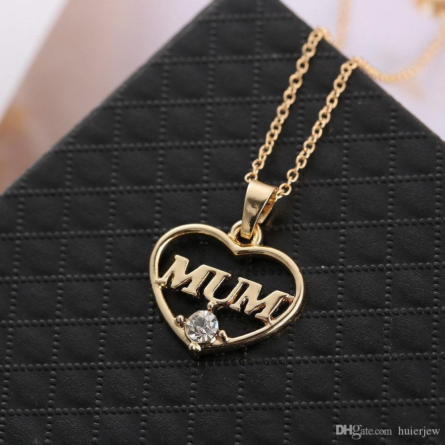 Mum Love Heart Necklace Loving Mother's Day Gift Mother Jewelry Between Mother and Daughter Beautifully Necklace Sweater Chain Necklace