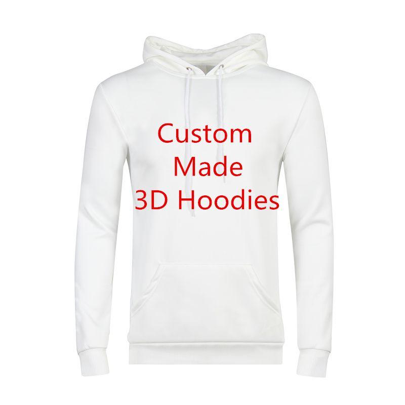 Hohe Qualität Mit Kapuze Sweatshirts Männer Persönlichkeit 3D Print Hoodies Kunden Anpassen Hoodie DropShipping Großhändler