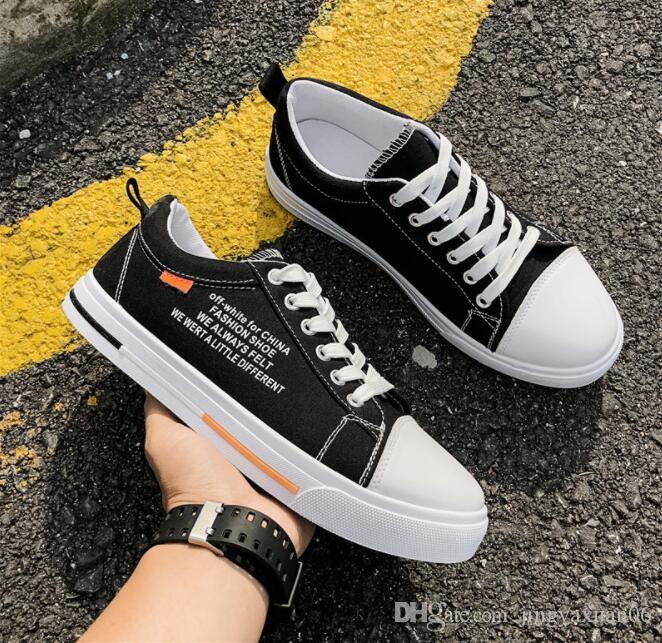 2019 New Best-selling Autumn Men's Shoes Canvas Shoes 100 Laptop Leisure Breathable Cloth Shoes Factory Direct Selling