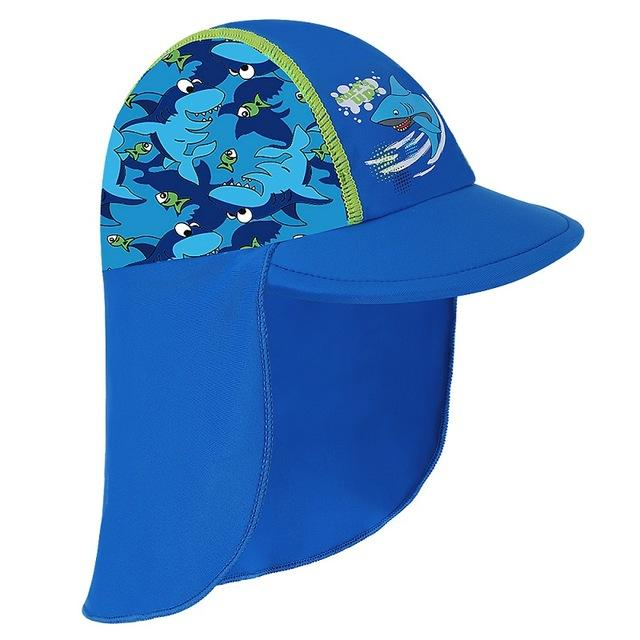 with HotPink Swan Cartoon Cute caps Summer Sunshade Empty LightBlueSun Kids Sun Hat