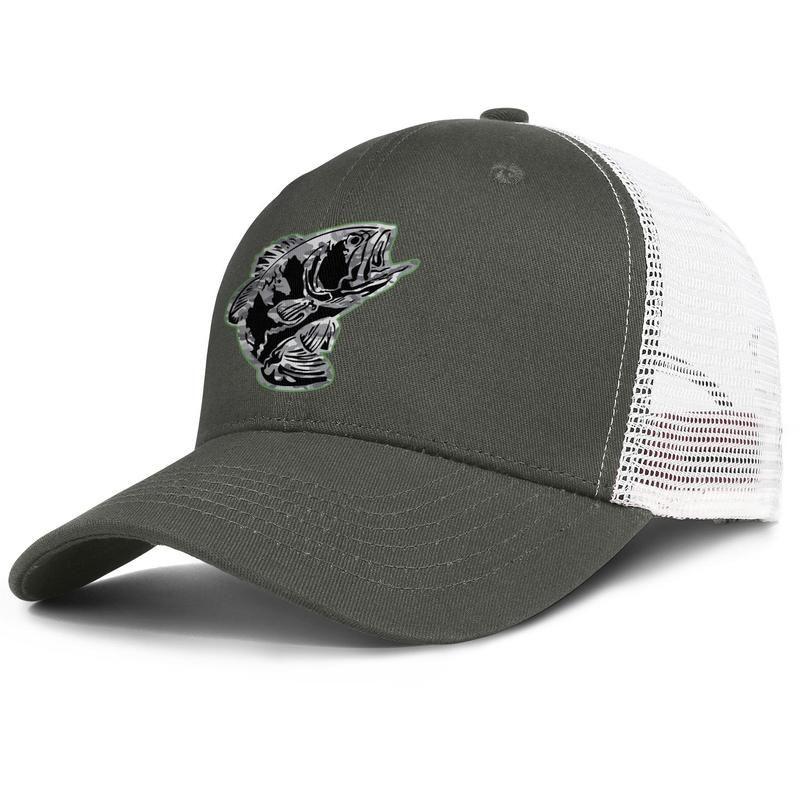 Baixo cinza Camuflagem loja de pesca Pro army_green homens e mulheres tampão do camionista bola de design equipado moda malha chapéus Bass Pro Shop logotipo 3D