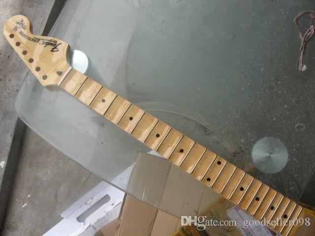 يشير القيقب الكندي صدفي Groove إلى مجلس الغيتار الرقبة 22 الحنق نيترو صقيل الغيتار الكهربائي ستراتوكاستر الرقبة الأصابع