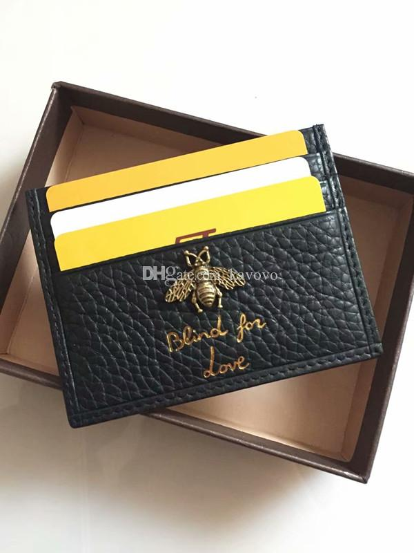 Hot Unisex Bank Credit Id Card Holder Fashion Design Super Bee Soft Wallet Coin Purse Business Card Wallet Case With Box Branded Wallets Buy Wallet From Kavovo 27 07 Dhgate Com