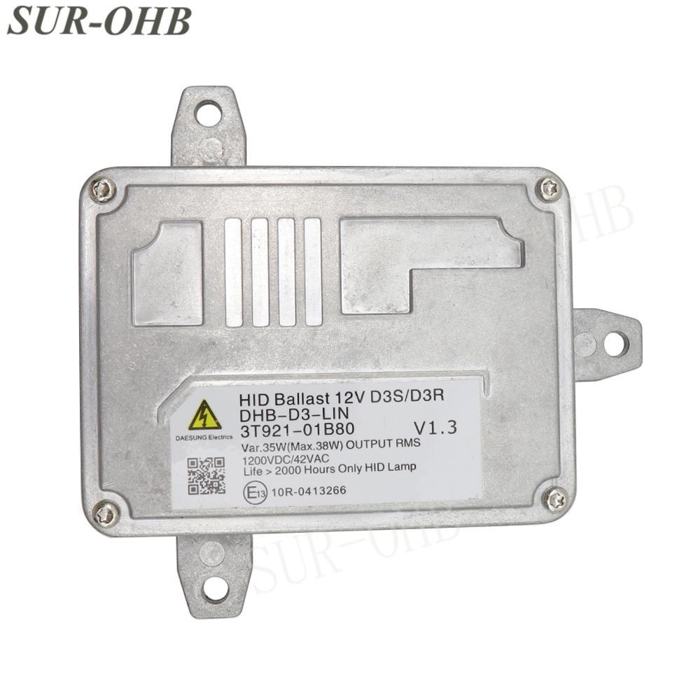 New OEM D3S D3R 3T921-01B80 Xenon Headlight Ballast Control Unit DHB-D3-LIN 3T92101B80 HID Module 35W 12V 42VAC DHBD3LIN for MK3 Car Vehicle