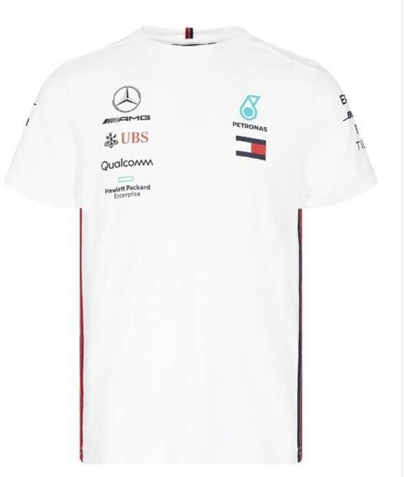 2019 Formula 1 F1 Mercedes-Benz AMG Takımı tişört Hamilton / Bottas Team Edition Hızlı Kurutma Hızlı Kurutma En Kısa Kollu