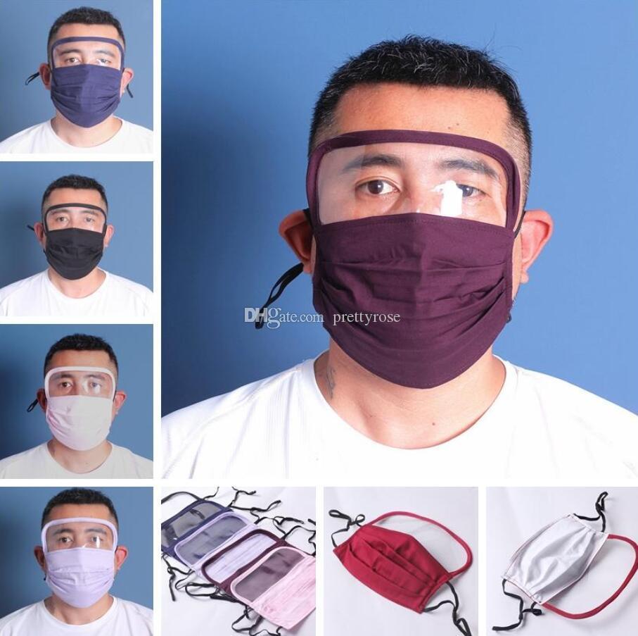 Venta caliente de la mascarilla del nuevo diseño 2 en 1 protector de cara Máscara malla de plástico Máscaras de aislamiento de protección de la cara llena anti-vaho aceite protector Shiel
