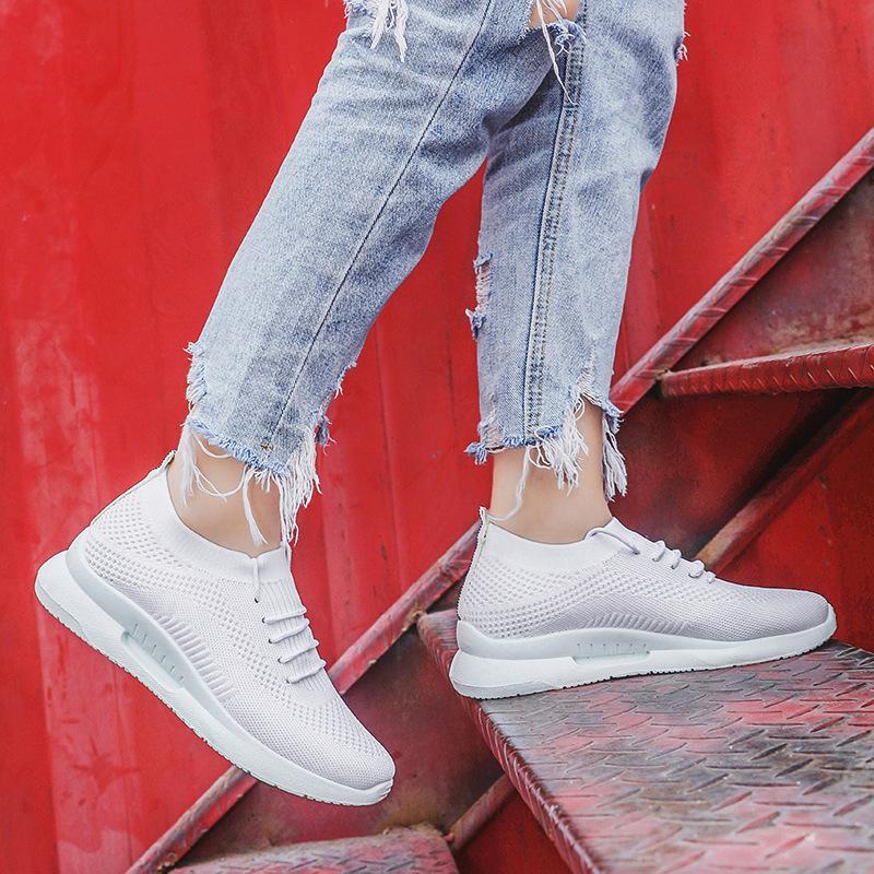 2020 новые плоские туфли Женские дикие новые одиночные студентки бегут легкие износостойкие повседневные носки