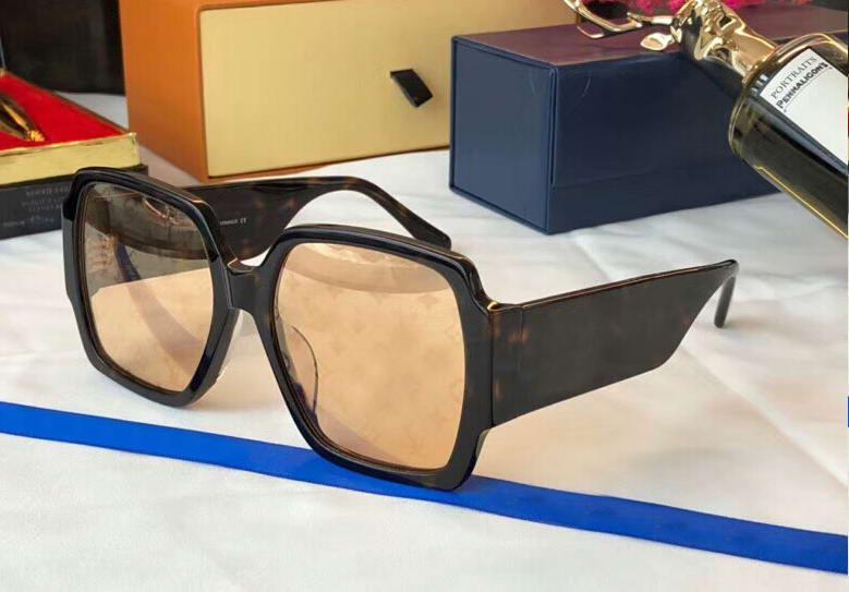 Havana Gold-Spiegel-Sonnenbrille-Quadrat-Rahmen 2603 gafas de sol Frauen Sonnenbrille Neu mit Box