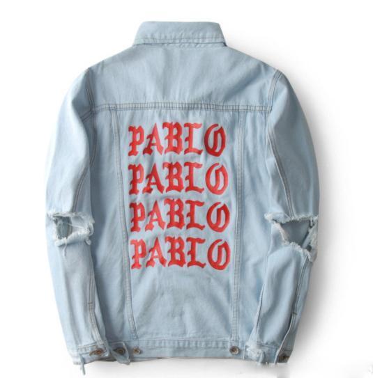 kanye sweat à capuche ouest veste designer de vêtements vêtements de plein air manteaux mode de luxe en coton denim décontracté Hommes manches longues Pullove hip hop Denimaa64 #
