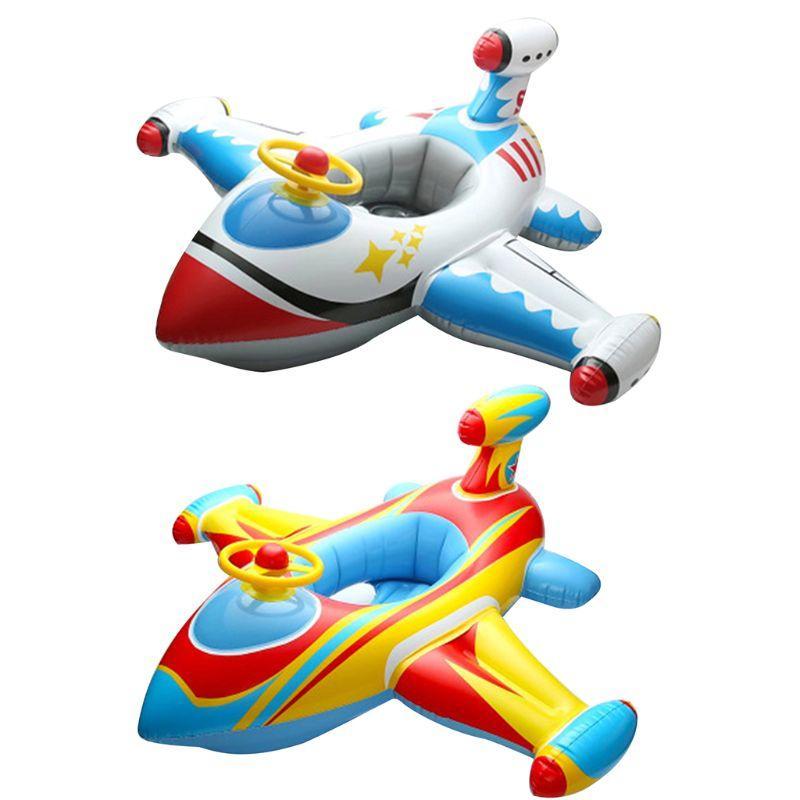Inflável Círculo Avião bebê Float assento infantil da criança Swim Anel Piscina barco inflável colchão da natação Piscina Brinquedos