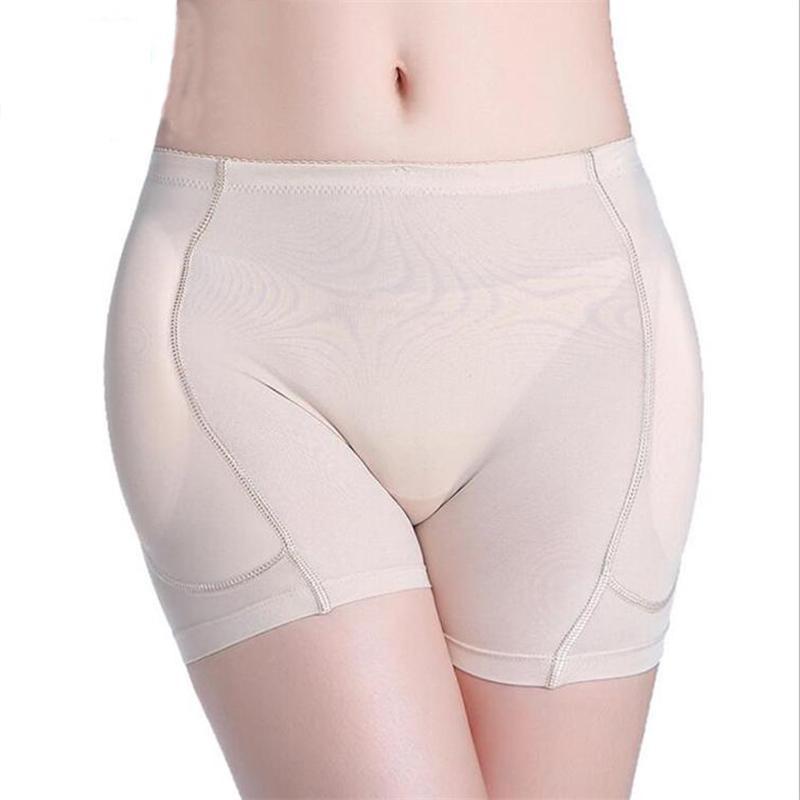Plus Size Contrôle Culotte Body Shaping Sous la peau noire Butt Lifter Ladies éponge Short Pad pour perdre du poids Femmes Lingerie