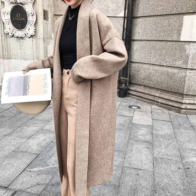 H.SA Women Winter Clothes 2019 Cashmere Sweater Caedigans Oversized Long Jacket Coat Winter Warm Batwing Knit Ponchoes Coat Y200106