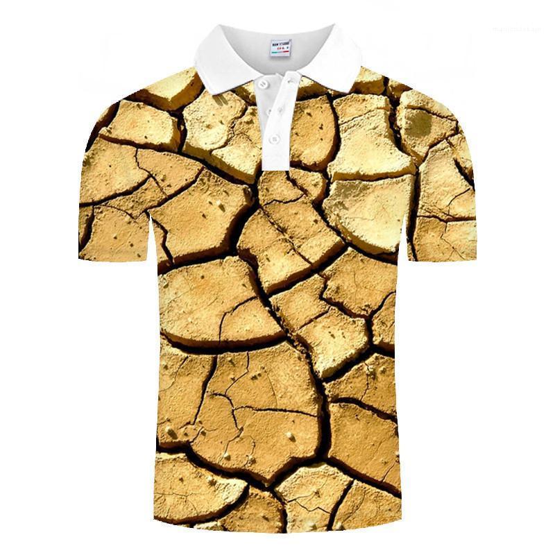 Neue Mens-Sommer-Kleidung der Männer 3D-Designer-Polo-Hemd-beiläufige kurze Hülsen-Revers-Ansatz-loses Polo