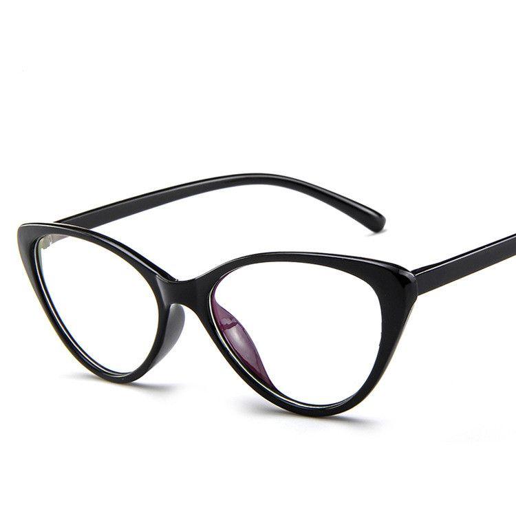 السيدات Cateye نظارات إطارات كاملة حجب واضح عدسة الكمبيوتر نظارات القراءة النوم أفضل للنساء رجال