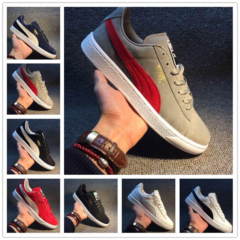 2020 Puma shoes men women ريهانا فنتي الزاحف PM كلاسيكي سلة منصة أحذية عارضة المخملية متصدع جلدية الجلد المدبوغ الرجال النساء المصممين الجري أحذية رياضية