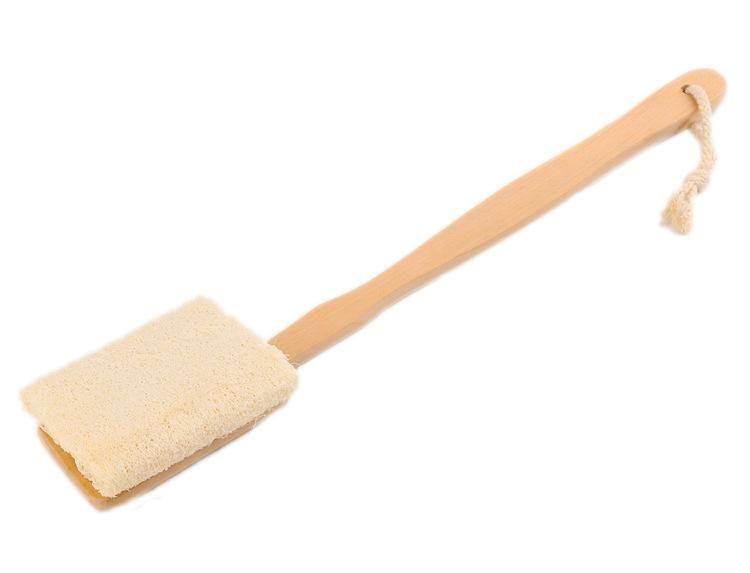 Luffa Bürste Bad Dusche Bürste Peeling Dusche Körper Scrubber Körper mit langen Holzgriff Spa Massage