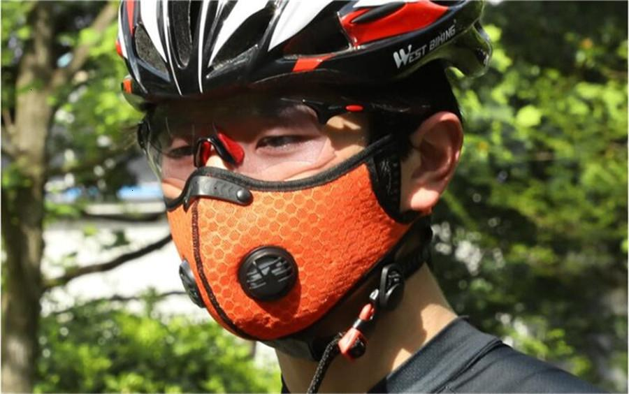 Máscara de respiración Moda Válvulas hombres de la cara anti-polvo PM2,5 a prueba de viento al aire lavable protector con el color 5 DPV6 QA