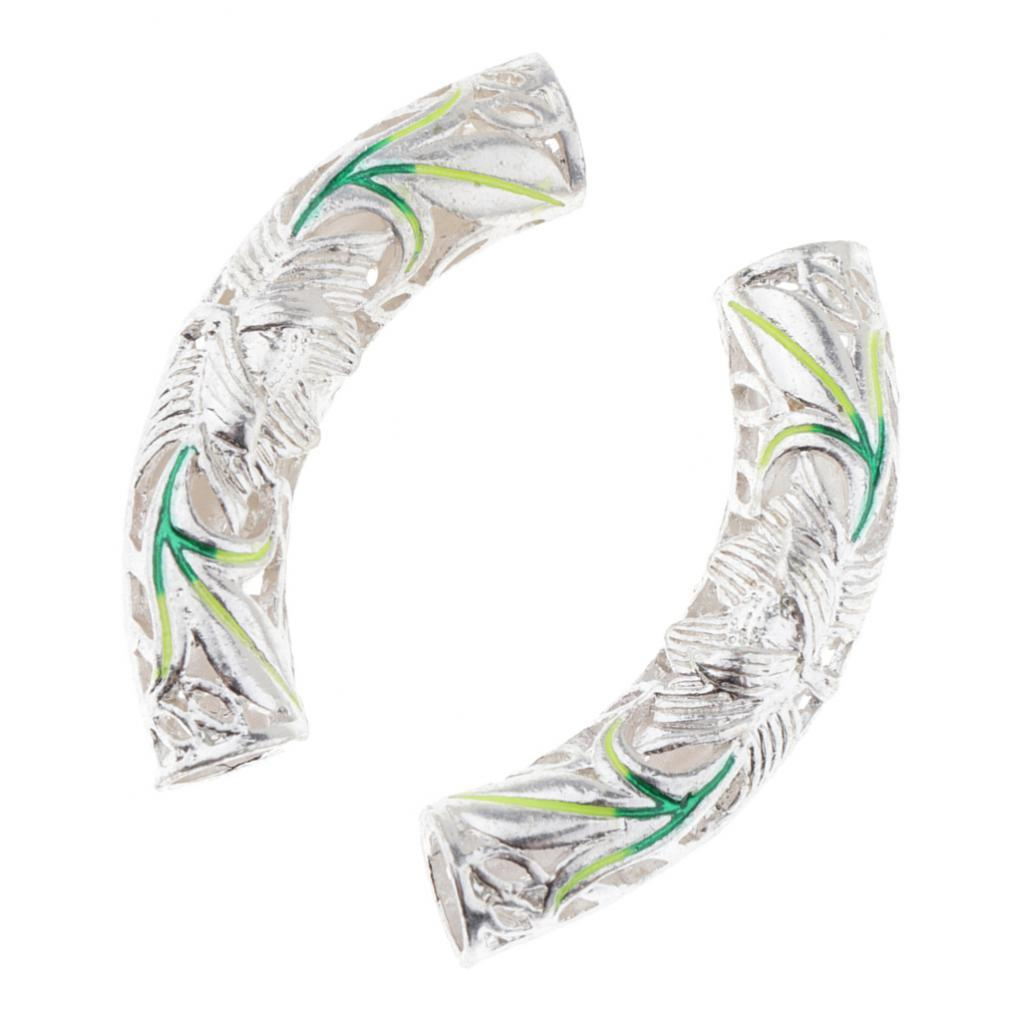 2x dello smalto dei monili del tubo borda all'ingrosso dei capelli degli accessori della decorazione
