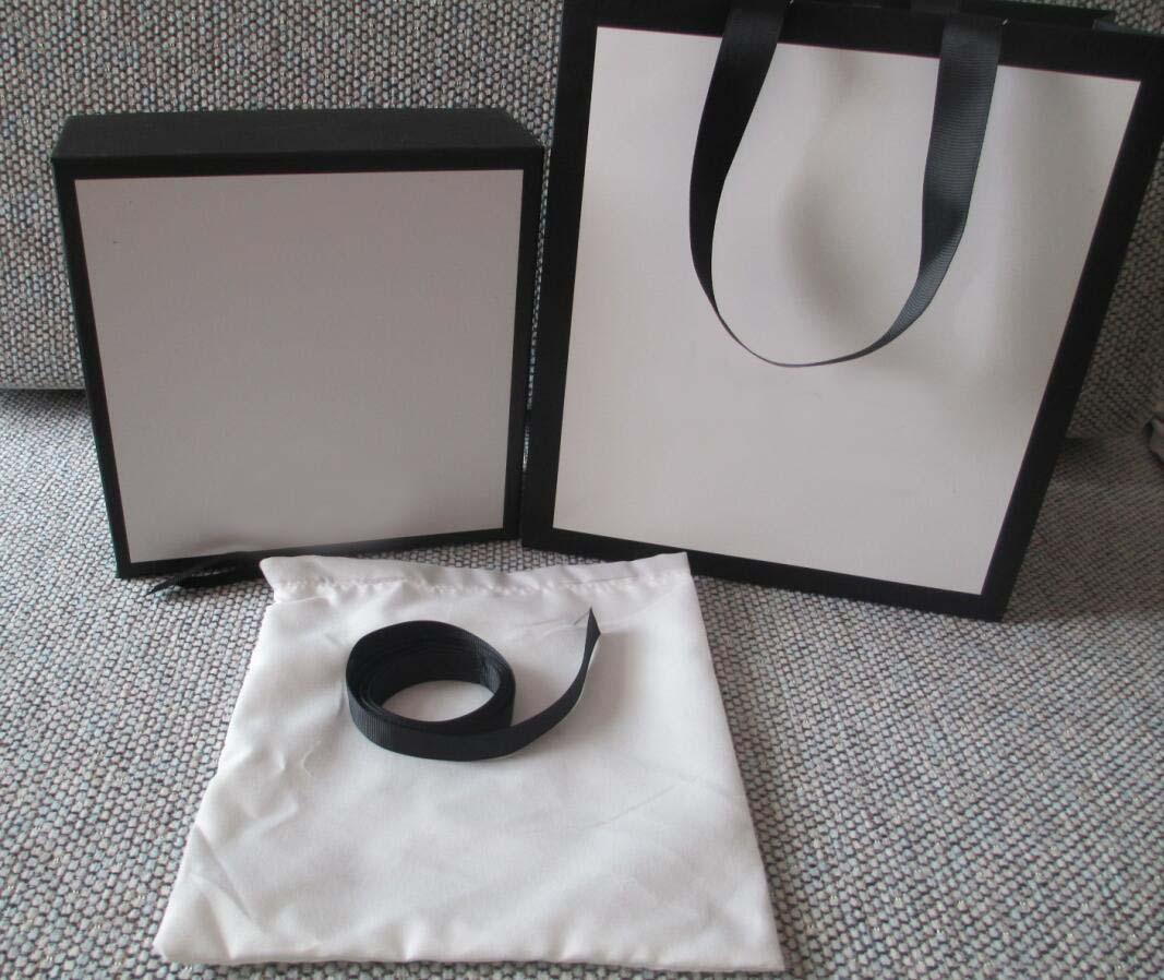 도매 최고의 가격 패션 럭셔리 남성과 여성 가죽 디자이너 벨트 특수 종이 가방 먼지 가방, 상자 송장