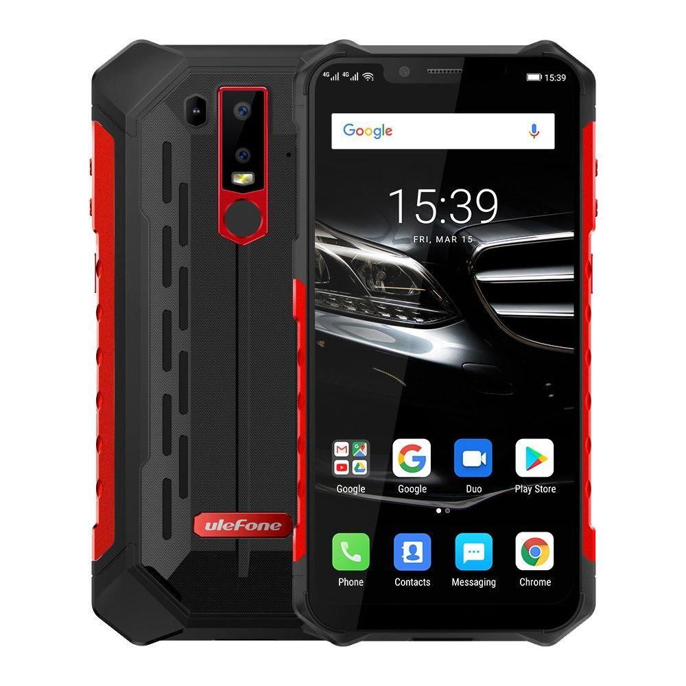 "Ulefone Zırh 6E Cep Telefonu IP69K Su Geçirmez Android 8.1 6.2 ""FHD + Helio P7O Octa Çekirdek 4 GB + 64 GB Kablosuz Şarj Smartphone NFC"