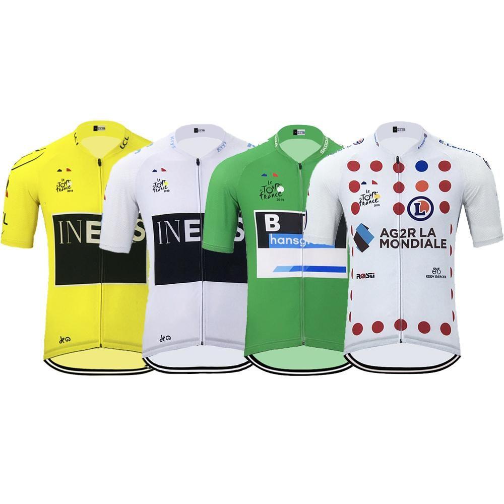 2019 Französisch-Tour Campeon Go Pro Men Ineos Radtrikot Sommer-Kurzschluss-Hülsen-Mtb Jersey Bike Jersey Hombre Maillot Ciclismo