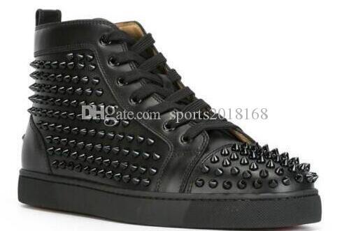 En Çivili Dikenler Casual Flats Kırmızı Alt Lüks Ayakkabı Yeni için Erkekler ve Kadınlar Partisi Tasarımcı Sneakers Aşıklar Gerçek Deri