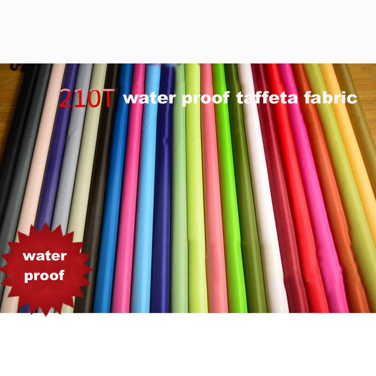 Sonne wasserdicht Zelte Auto Abdeckung Textil 210 T polyester Taft Outdoor Stoff Regenschirm Stoff Materialien