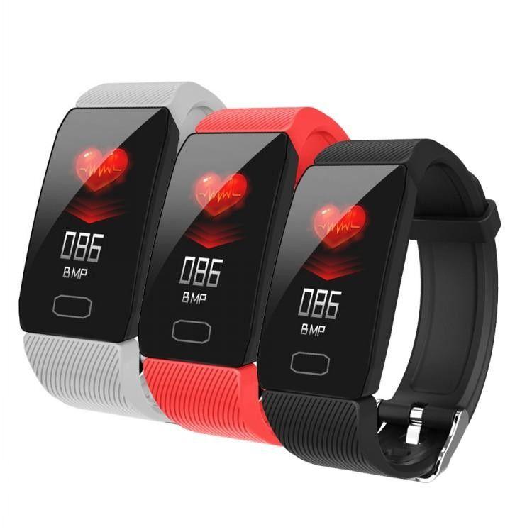 Q1 smart watch esporte pulseira de fitness rastreador de freqüência cardíaca pulseira de pressão arterial ip67 à prova d 'água banda pedômetro para ios android