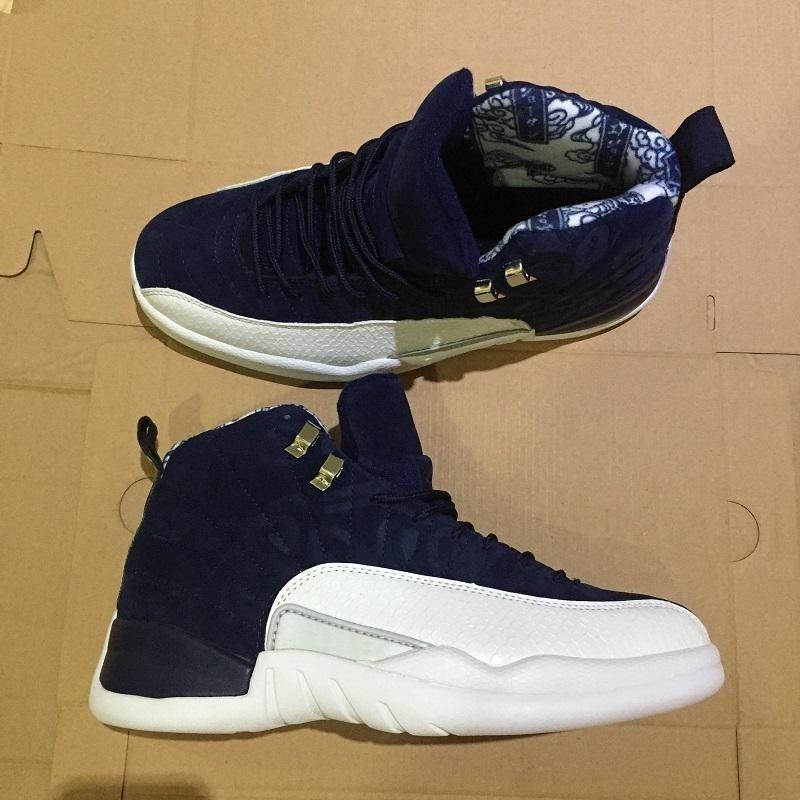 2019 Scarpe Jumpman 12 internazionale di volo 12s Tokyo Japan uomo scarpe da basket fibra Retros Sneakers