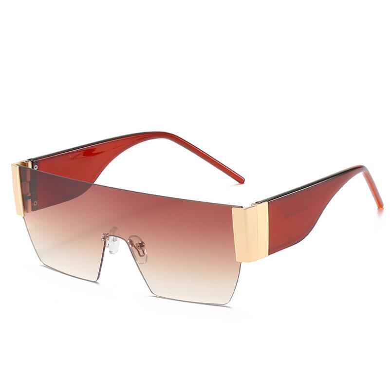 2020 mens designe óculos de sol para homens búfalo óculos sem aro marca do vintage retro óculos óculos de ouro prata metálica clara NO BOX