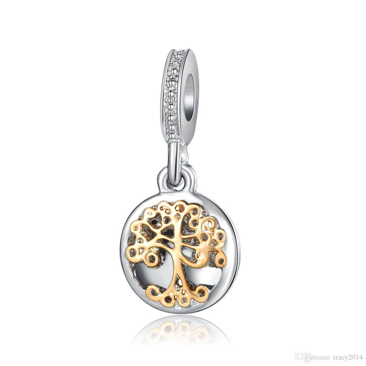 2021 Gold Life Tree Pendants Fits Pandora Bracelets Charm Beads Pendant Beads Big Hole Women Wedding Charm For Charm Chain Bracelets Necklaces From Tracy2014 0 45 Dhgate Com