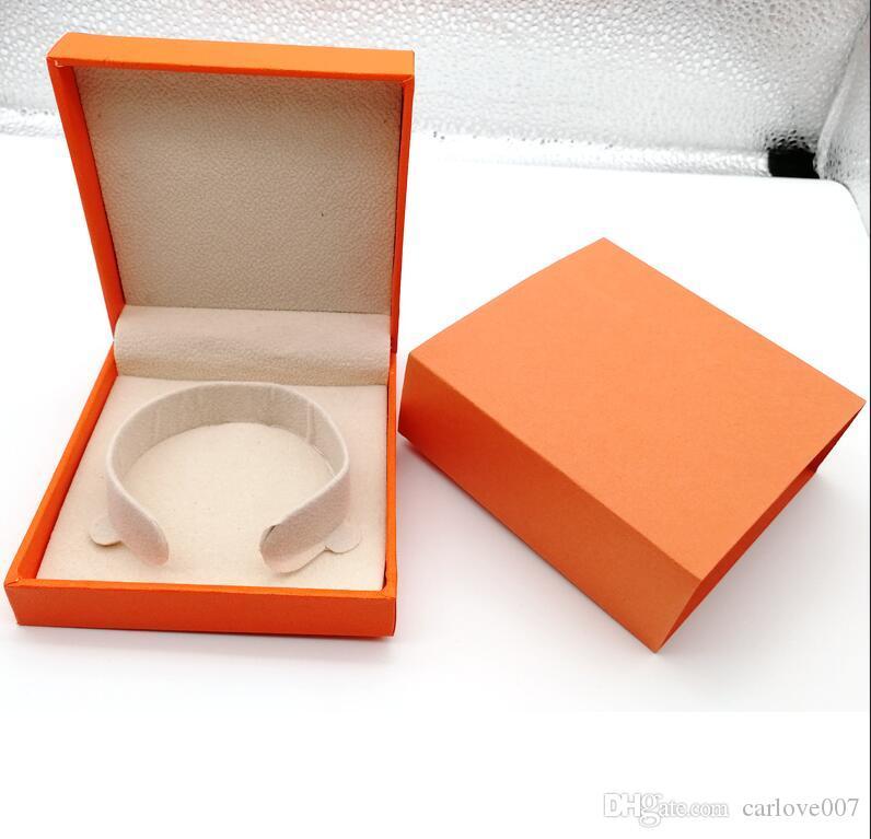 2019 nova marca de moda h pacote de pulseira caixa conjunto original bolsa e velet bag jóias presente caixa de laranja