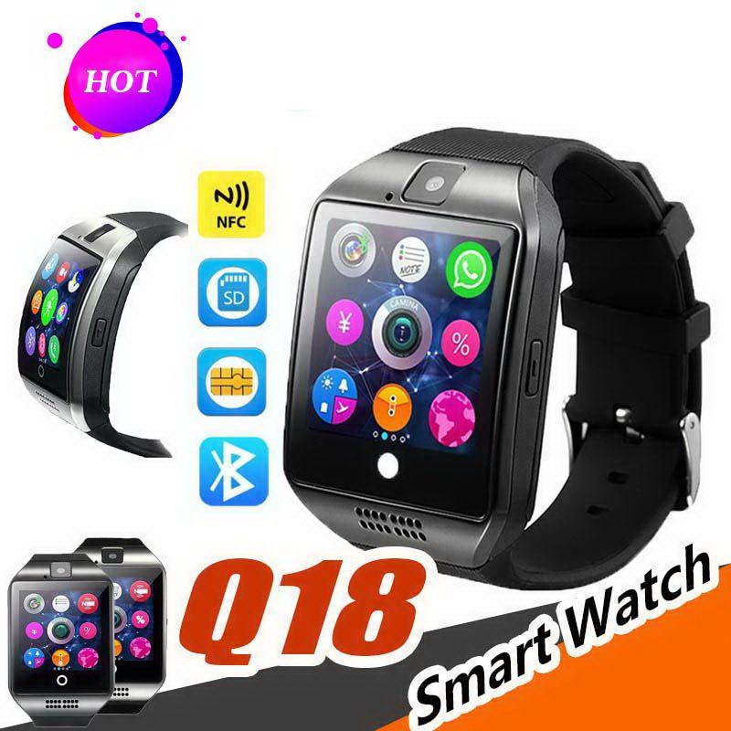 2019 Q18 Smart Watch Bluetooth Смарт-часы Для телефона Android с камерой Q18 Поддержка TF-карты NFC-соединение с розничным пакетом