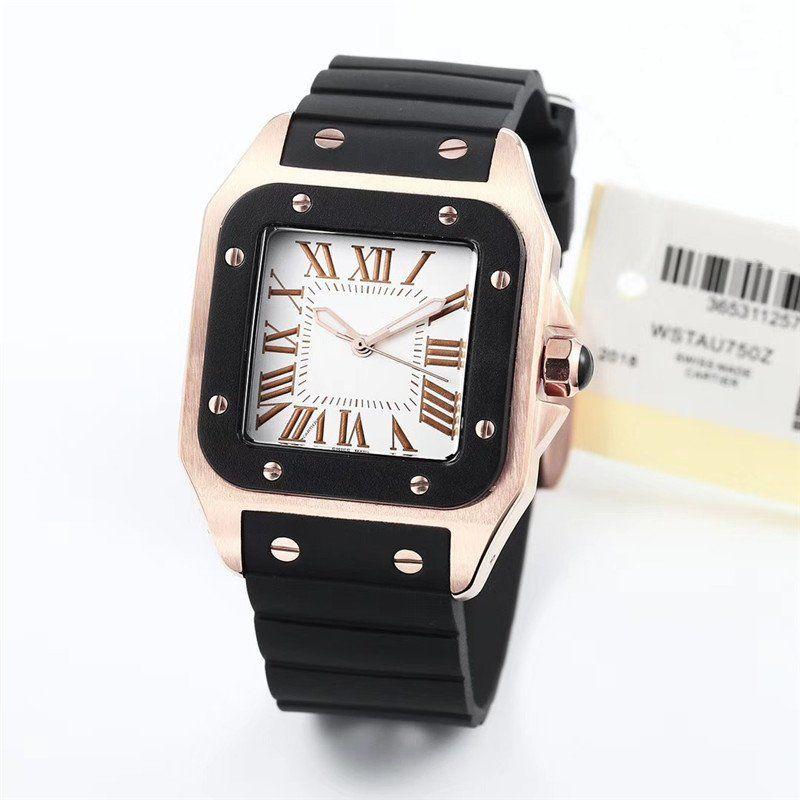 새로운 도착 패션 고품질 강철 남성 여성 일본 석영 스타일 명품 시계 CA075 시계