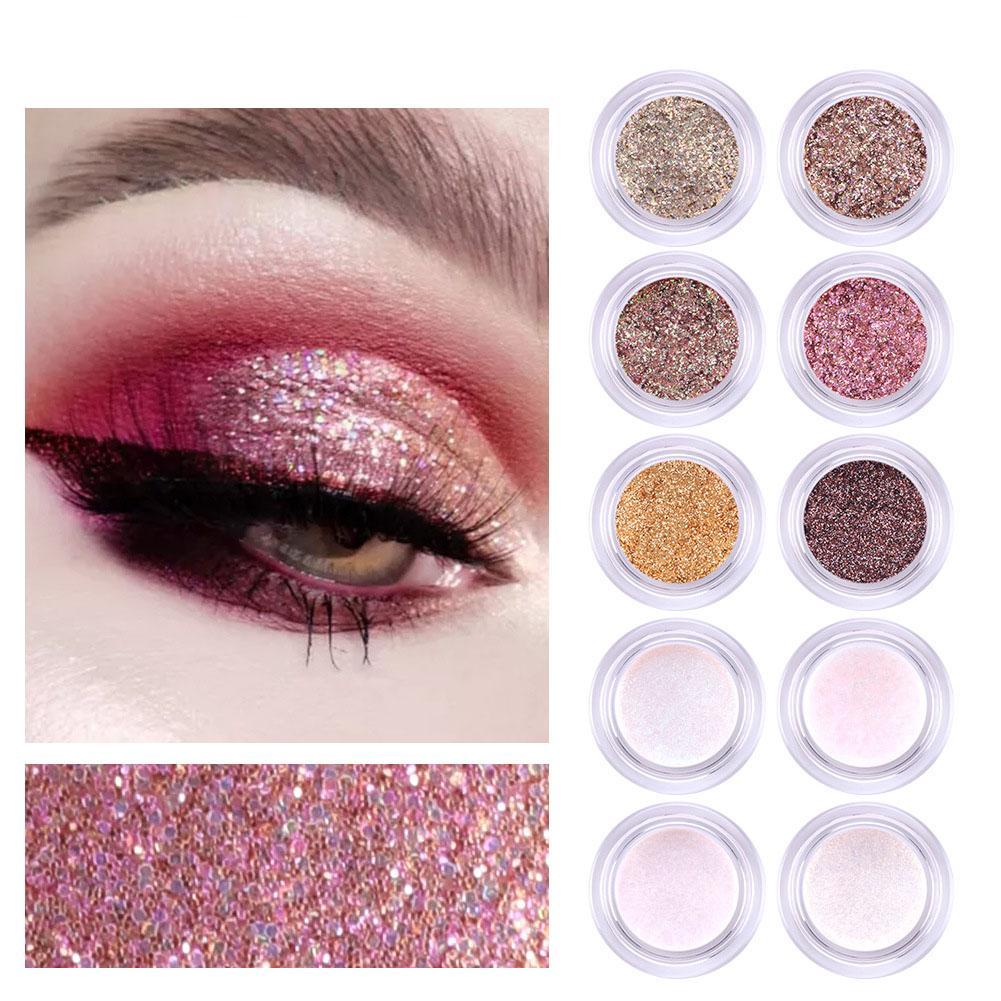 La nueva llegada del brillo de sombra de ojos sombra de ojos en polvo Pigmentos Sueltos polvo del brillo de la sombra de ojos del maquillaje de 7 g 11 colores