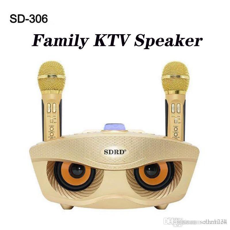 Новый беспроводной Voice Changer Микрофон Динамик Открытый Портативный Сова мобильный телефон Bluetooth Karaoke Семейный КТВ DHL