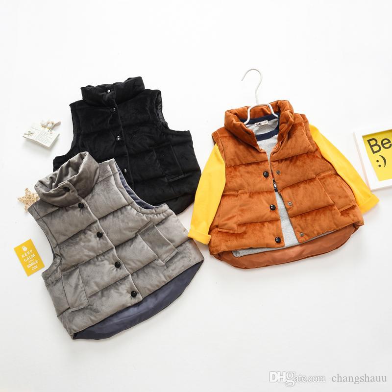 New Kids Жилет для мальчика и девочки Толстый жилет Детская одежда 2-7 Старый размер Осень Зима