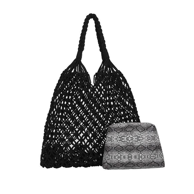 Designer-New Handmade Sacola para mulheres Praia Weaving Bolsas Ladies Shoulder Bags For Girls feita de nylon frete grátis Drop Shipping
