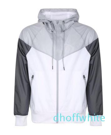 Casual Men Windrunner Casacos Primavera Outono Sports com capuz Cores Patchwork Designer Jacket Coats Wulong ky08